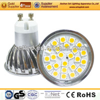 Aluminum 120degree Beam Angle SMD 5050 230V CE RoHS Spotlight GU10 LED 5W