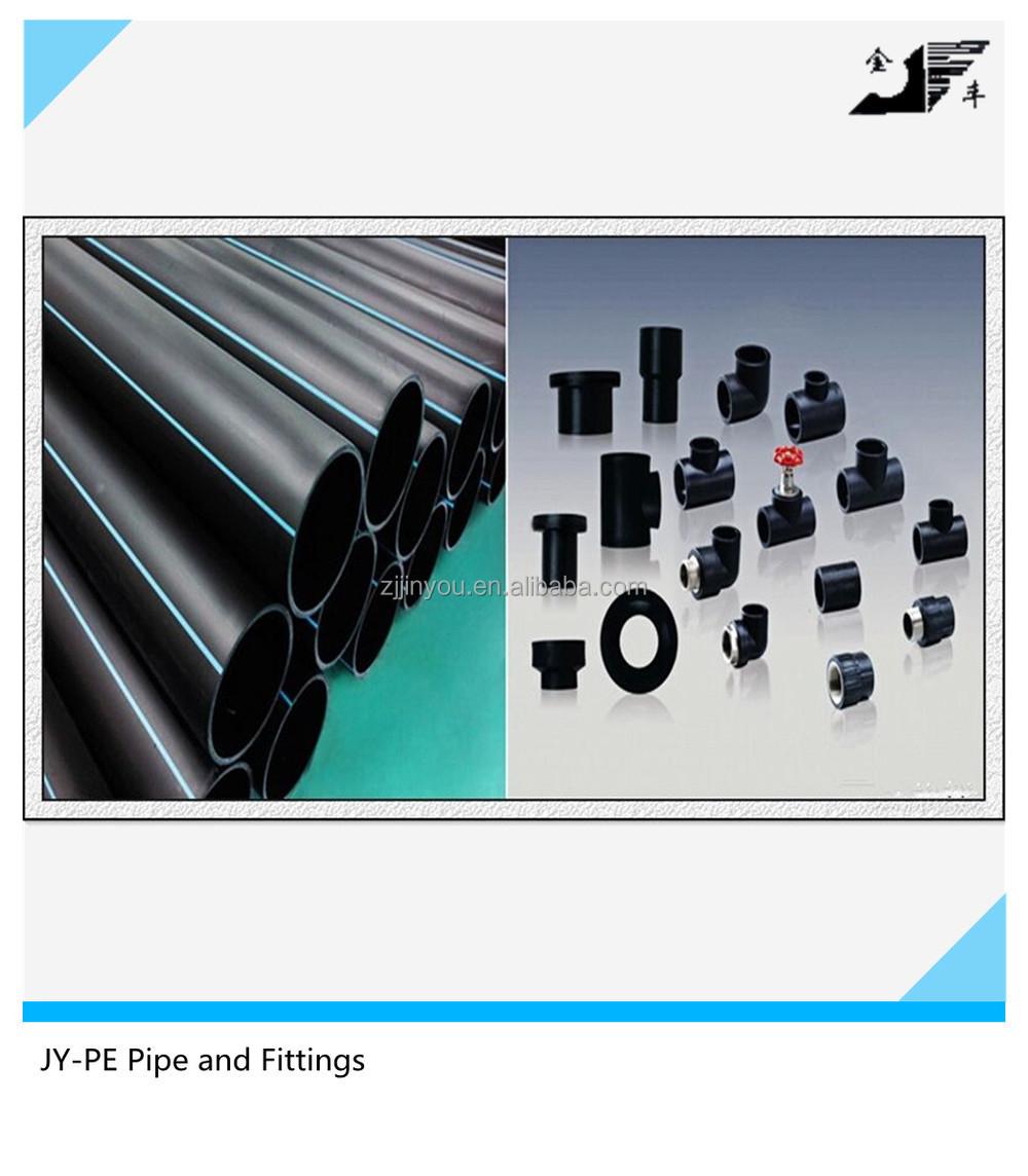 Black plastic pe fittings for pipe buy gas