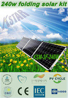 A grade pv panels price alibaba china/240w 18v solar battery charger camping portable solar folding panel/home solar systems