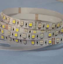 RGB White LED strip,1 RGB + 1 white LED,72 leds/meter, 24VDC,12MM width,4 channel,Shenzhen factory