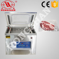 price for hot sale wenzhou hongzhan DZ400 stianless steel rice food meat fish pouch dz500 vacuum packing machine meat