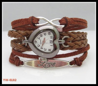 2015 fashion hot handmade woven leather watches .