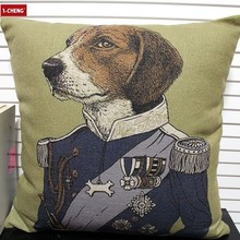 Puppy Design Cushion Cover Coloured Drawing Pillow Case Home Sofa Decorative Cushion Car Pillow