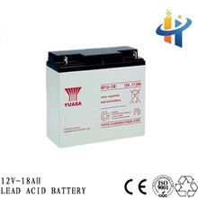 Yuasa model 12V 18AH lead acid battery for solar system, back up battery