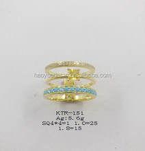 shining fashion finger ring colorful cz jewelry for party dress