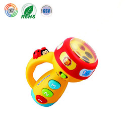 china ICTI certified Spin and Learn Color Flashlight&torch for children
