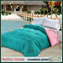Fashion cool blue quilt/Polyester microfiebr comforter bedding/polyester quilt sets