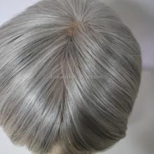 Faceworld human hair wig factory in Qingdao high quaity human hair grey lace front wig