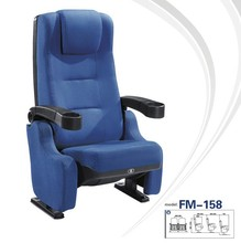 FM-158 Comfortable upholstery cinema seating with cup holder armrest