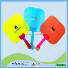 custom printed decorated pp hand fan ,pp fans ,plastic hand fans supplier and manufacture