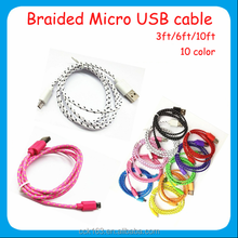 Micro usb cable,popular braided usb data cable micro usb cable for cell phone