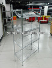 Best Quality with Competitive Price Rolling Chrome Wire Shelving for Shopping Equipment YD-073