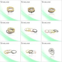 Starland murano piedra Micro Pave configuración joyería del anillo de plata