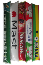 Promotional PE banger stick size 10*60cm banger stick with logo printed CF factory