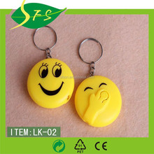 Hot Sale Promotional Cheap Plastic Led Keychain Smile face ABS keychain