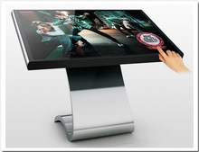 55 inch Brightness 500 waterproof stand floor for outdoor multi Touch panel screen all-in-one PC