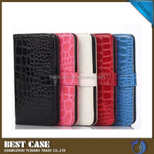 book style phone leather case for samsung galaxy S6 edge