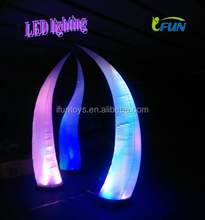 2015 Led Light Inflatable Tusk/Inflatable Lighting Decorations/Decorative Wedding Columns
