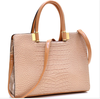Women Beige Handbag Crocodile Shoulder Bag Briefcase Business Bag HOT ITEM