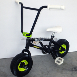 yellow color mini toy bmx bike ,2015 new 10inch mini bmx,3 pieces crank bicyce