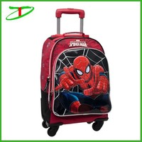 spiderman trendy school bags for teenagers, 2015 new school trolley bags for boys