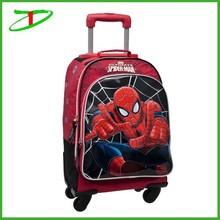 spiderman trendy school bags for teenagers, 2015 new school trolley bags for boys