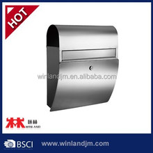 Stainless Steel Mailbox with newspaper holder letter box