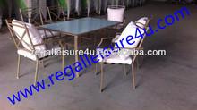 Baratos de jardín al aire libre acolchado juego de comedor muebles rlf-0141248