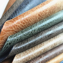 crack effect pu leather fabric for handbags HX1507