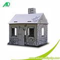 Artesanato de papel caixa de forma ao ar livre papelão casas de jogo para crianças