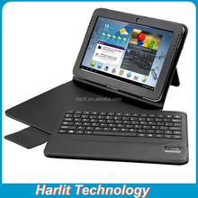 Android Tablet 10.1 Leather Cover Case Bluetooth Keyboard, Bluetooth Keyboard Case For Samsung Android 10.1 Tablet