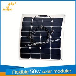 Sungold new design flexible china solar panels cost