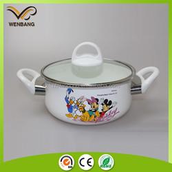 Bakelite handle enamel cookware carbon steel metal porcelain enamel cookware