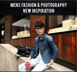 The new spring and summer 2015 young Danny cowboy men's cultivate one's morality type thin thin coat male leisure han edition ja