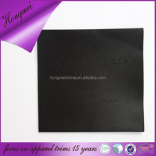 Newly designed technic emboss satin label woven brand tag