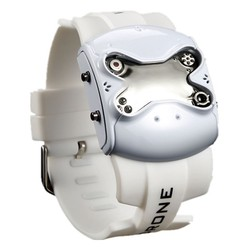 men cool robot unique design 3 lights choice silicone strap sports clock military digital led drone watch