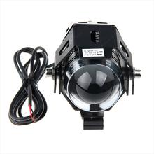 Black Motorcycle Moto U5 LED Running Driving HeadLight Lamp Headlight