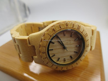 100% natural bamboo wood wholesale watch men, bamboo watch for man