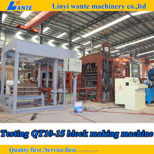 QT10-15 Automatic mutipurpose brick machine for myanmar