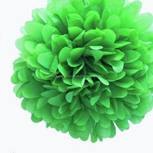 Yiwu Factory Wholesale Emerald Green Mini Tissue Paper Pom Poms Flowers Balls - Pack of 8 Party Kit BIRTHDAY PARTY WEDDING DECO