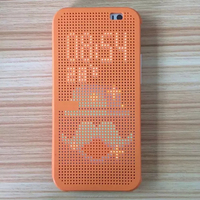 High Quality Smart Dot View Leather Sleep Wake Protective Case For HTC One M8S
