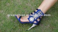 Sexy metal stiletto high heels