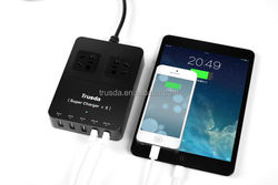 New arriving! Portable 5 port cable usb charger for motorcycle hella / din