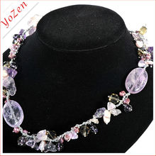 Near round freshwater pearl, large size freshwater pearls Rose Quartz fashion pearl necklace alibaba express
