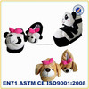 cute animal slippers/kids indoor shoes/plush animal shoes