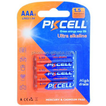 Large stock !!! 1.5V Ultra digital alkaline battery LR03 AAA size from PKCELL