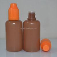 PE plastic e cigarette dropper container 30ml with childproof tamper cap