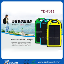 5V colorful Solar Panel charger FCC,CE,RoHS ,5000mAh for travel outdoor