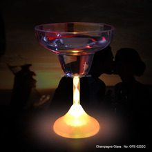 Acrylic cup 230ml volume flashing colorful led margarita cup for wedding
