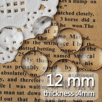 12mm 200pcs/lot Half Round Fashionable DIY Glass Patch Beads glass tray gem crystal time tile beads 200pcs/lot wholesale